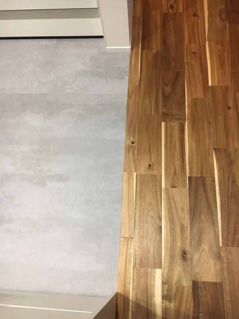 キッチンとリビングの堺目